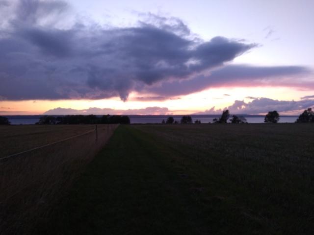 Solnedgång Visingsö 2